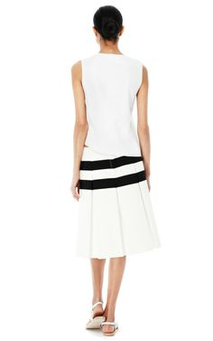 striped pleated skirt   Techno Twill Horizontal Stripe Pleated Skirt by Marc Jacobs Now ...