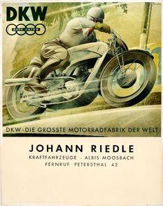 Original Vintage Posters -> Advertising Posters -> DKW Auto Union Motorcycles - AntikBar