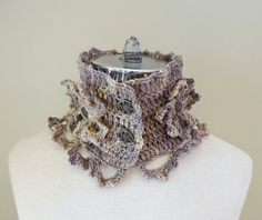 Crochet Floral Stone Tracery Scarf with by ValerieBaberDesigns