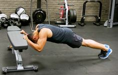 All you need is a bench and 20 minutes to fry your tris