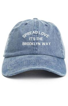 63d8f5e0bc0 Spread Love It s The Brooklyn Way Dad Hat Adjustable Baseball Cap New -  Denim