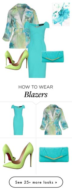 Untitled #65 by kimberlydalessandro on Polyvore featuring moda, Add, Roland Mouret, Christian Louboutin y Jessica McClintock