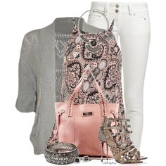Pink n' Paisley by stylesbyjoey on Polyvore featuring Miss Selfridge, LTB by Little Big, Christian Louboutin, Lilly of Sweden, Forever 21, Aris by Treska and David Yurman