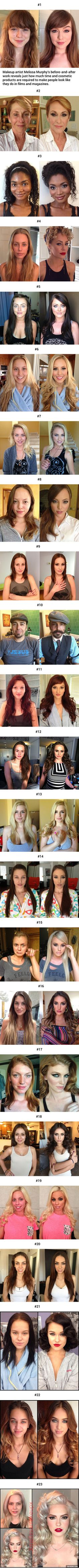 23 Before-And-After Pics Reveal The Power Of Makeup (By Melissa Murphy) - 9GAG