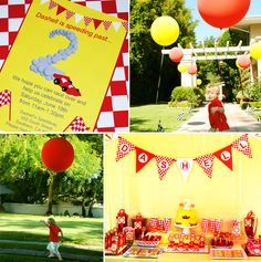 """Colorful & Creative """"Race Car"""" Birthday Party"""