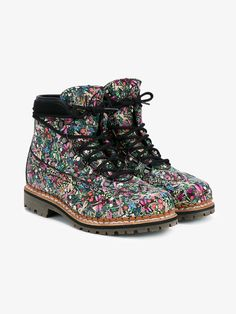 Bexley Floral Print Leather Hiking Boots