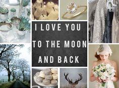 silver,  evergreen, slate and gray wedding inspiration