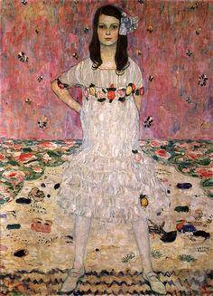 Gustav Klimt, Portrait of Mada Primavesi  #gustav-klimt #art