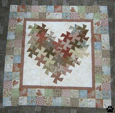 Heartstrings Twister Heart Quilt--kit from The Quilted Kitty