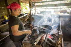 Making chocolate the traditional way with the Bribri people in Costa Rica.