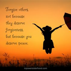 You deserve peace!