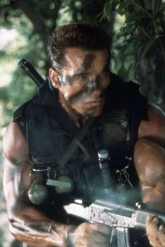 """Arnold Schwarzenegger Commando Anti gun in 1999 """"Until America, door to door, takes every handgun, violence is what you're gonna have. It's pathetic"""". Also said """"I'm for gun control, I'm a peace-loving guy"""". freaking hypocrite"""