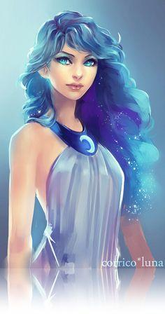 Hear-la-voix-de-mon-âme: Princesse Luna par corrico