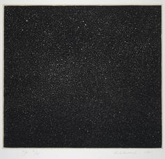 Vija Celmins- Night Sky - Woodcut