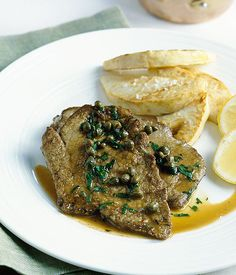 Australian Gourmet Traveller fast Italian recipe for piccata di vitello.
