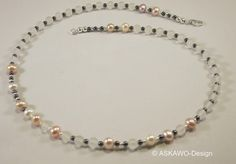 Bergkristall - ♥ Bergkristall/Hämatit/Perlen Collier♥ - ein Designerstück von ASKAWO-Design bei DaWanda