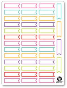 Event Flags Planner Stickers for Erin Condren Planner, Filofax, Plum Paper Printable Planner Stickers, Printable Labels, School Labels, Custom Planner, Name Stickers, Bullet Journal Ideas Pages, Happy Planner, Life Planner, Planner Stickers
