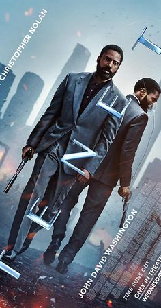Directed by Christopher Nolan. With John David Washington, Robert Pattinson, Elizabeth Debicki, Kenneth Branagh. Armed with only one word, Tenet, and fighting for the survival of the entire world, a Protagonist journeys through a twilight world of international espionage on a mission that will unfold in something beyond real time. 2020 Movies, Buy Movies, Good Movies, Movies Online, Movies To Watch, Christopher Nolan, Robert Pattinson, Clemence Poesy, Bon Film