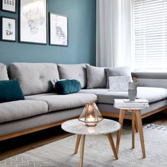and pale wood living room design grey and pale wood living room design 75 Inspiring Blue Living Room Photos Teal Grey Living Room, Scandi Living Room, Teal Rooms, Living Room Decor Colors, Living Room Color Schemes, Living Room Grey, Home Living, Room Interior, Interior Design Living Room