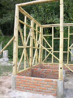 Bamboo Architecture, Sustainable Architecture, Architecture Design, Bamboo Garden Fences, Garden Gates, Filipino House, Bamboo House Design, Bamboo Structure, Bamboo Construction