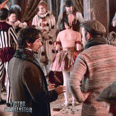 James McAvoy bts Victor Frankenstein