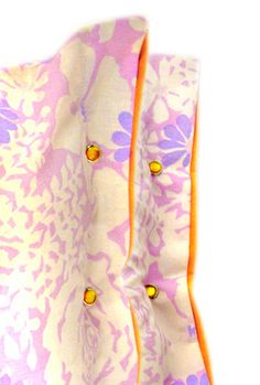 pillowcase with snap buttons on