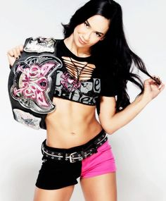 WWE Diva AJ Lee #wwe #wwedivas you think you all that but your not you better leave the bella twins alone.