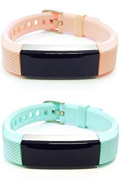 BSI Set 1 Pink 1 Teal Classic Accessory Bands For Fitbit Alta Activity Tracker Adjustable Silicone Design Straps With Metal Buckle Clasp. For Fitbit Alta ONLY. Tracker not included. Replacement fitness wristbands that match the quality of the original but with better belt buckle type fastening for more secure and comfortable fitment on your wrist. Wear it during exercise or casual social events to complement your fashion style, look and mood. Weighs only around 1 oz (28 grams) with…