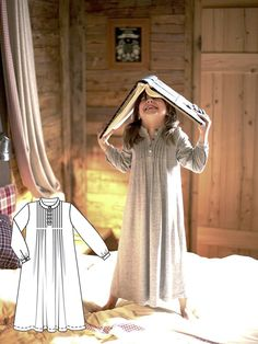This ankle-length Girl's Nightgown in soft jersey will make even the most restless princess slumber quickly.