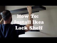 ▶ How To: Install Ikea Lack Shelf - YouTube