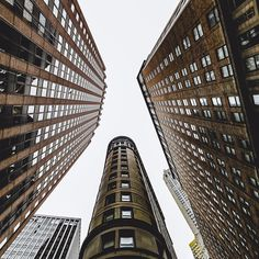 The view looking up in a skyscraper world. Captured by @insighting #nyc