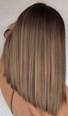 Brown Hair With Blonde Highlights, Blonde Hair Looks, Brown Hair Balayage, Hair Color Balayage, Hair Color For Black Hair, Hair Highlights, Balayage On Straight Hair, Light Brown Hair Colors, Dark Blonde Hair Color