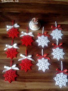 Set of 4 White Crochet Snowflakes, Christmas Snowflakes, Tree Ornaments, Home Decor Crochet Christmas Decorations, Christmas Crochet Patterns, Crochet Christmas Ornaments, Crochet Decoration, Holiday Crochet, Handmade Ornaments, Christmas Angels, Christmas Wreaths, Christmas Snowflakes
