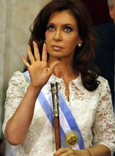 Christina Fernandez de Kirchner, the first woman elected president of Argentina.