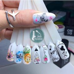 How do you like it? Rate it from 1 to 10 Do not forget to like —————————— # manicure # nail . Korea Nail Art, Nagellack Design, Glow Nails, Fire Nails, Pretty Nail Art, Nails Tumblr, Best Acrylic Nails, Dream Nails, Nail Art Hacks