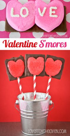 Valentine Smores. Such a fun and easy Valentine's Day twist on smores!
