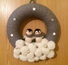 Penguins pompom wreath