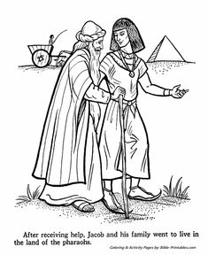 Joseph Bible Story Coloring Page