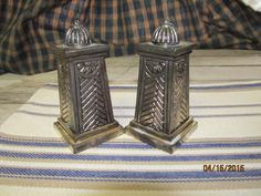 Antique Salt Pepper Shakers Set Silverplate Silver Plate Greek Pillars Columns Art Deco by EvenTheKitchenSinkOH on Etsy
