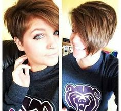 best ideas about Asymmetrical pixie haircut on . Short Layered Haircuts, Round Face Haircuts, Hairstyles For Round Faces, Pixie Hairstyles, Cool Hairstyles, Pixie Haircuts, Short Asymmetrical Hairstyles, Asymmetrical Pixie Cuts, Pixie Haircut For Round Faces