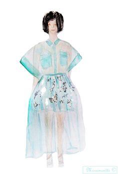 Fashion plate - Del Pozo. Moramontti's Illustrations  #ilustraciones #moda #fashion #illustrations