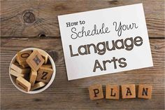 Great Ideas on how to schedule you weekly Language arts lessons so that you can fit everything you need to cover in 100 minutes.