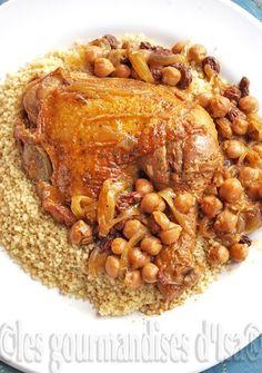 Les gourmandises d'Isa: TAJINE DE POULET AUX POIS CHICHES