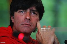 Head coach Joachim Loew looks on during the Germany press conference at the DFB…