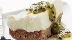 lime cheesecake med passionsfrugt.
