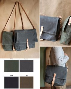 Waxed Canvas Haversack