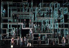 Fidelio. Bavarian State Opera. Scenic design by Rebecca Ringst.