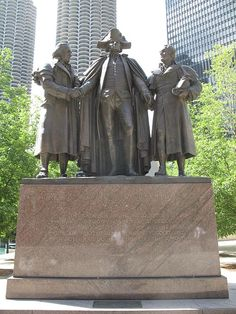 The Heald Square Monument is a bronze sculpture in Heald Square, Chicago, Illinois. It depicts General George Washington, and the two principal financers of the American Revolution, Robert Morris and Haym Salomon. From 1781 to 1784, Robert Morris served as the Superintendent of Finance, managing the economy of the fledgling United States. Haym Salomon was a Polish-born Jewish American businessman and political financial broker who immigrated to New York from Poland during the American…