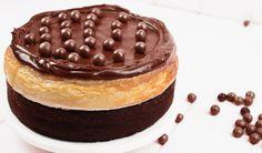 Pastel de mantequilla de cacahuete y chocolate