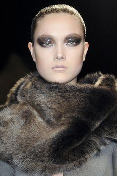 Glittery #beauty #makeup #cosmetics #lips #lipstick #red #eyes #eyeshadow